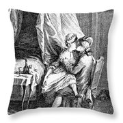 Lovers, 18th Century Throw Pillow