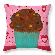 M And M Cupcake Throw Pillow
