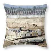M1 Abrams Tank Is Bogged When Trying Throw Pillow