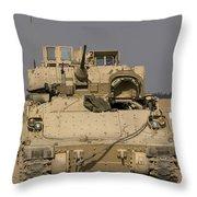 M2m3 Bradley Fighting Vehicle Throw Pillow