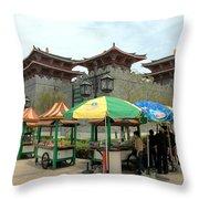Macau Fisherman's Wharf Throw Pillow