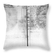 Madison: Account Book Throw Pillow
