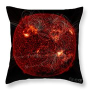 Magnetic Field Lines On The Sun Throw Pillow