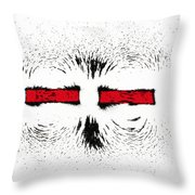 Magnetic Repulsion Throw Pillow
