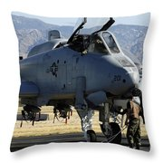 Maintainers Perform Pre-flight Throw Pillow