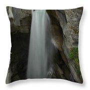 Maligne Canyon Throw Pillow