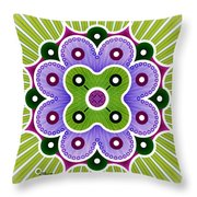 Mandala Of Abundance Throw Pillow