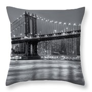 Manhattan Bridge II Throw Pillow
