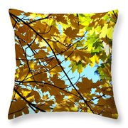 Maple Leaf Canopy Throw Pillow