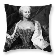 Maria Theresa (1717-1780) Throw Pillow