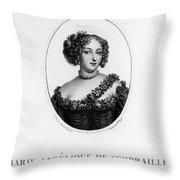 Marie-ang�lique De Rousille Throw Pillow