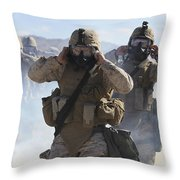 Marines And Sailors Participate In An Throw Pillow