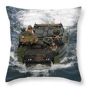Marines Navigate An Amphibious Assault Throw Pillow