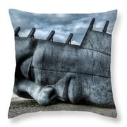 Maritime Memorial Cardiff Bay Throw Pillow