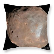 Mars Moon Phobos Throw Pillow
