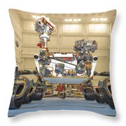 Mars Science Laboratory Rover Throw Pillow