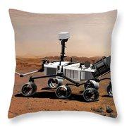 Mars Science Laboratory Throw Pillow