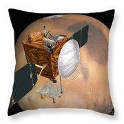 Mars Telecommunications Orbiter Throw Pillow