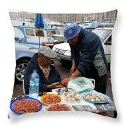Marseilles Fishermen Throw Pillow