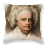 Martha Washington, American Patriot Throw Pillow