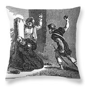 Martyrdom Of St. Stephen Throw Pillow