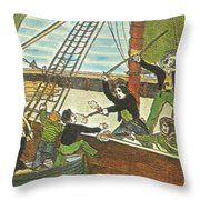 Mary Read And Anne Bonny, 18th Century Throw Pillow by Photo Researchers