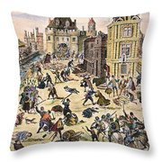 Massacre Of Huguenots Throw Pillow by Granger