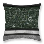 Maths Formula On Chalkboard Throw Pillow