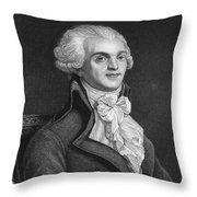 Maximilien Robespierre Throw Pillow
