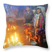 Maximon Ceremony In Guatemala Throw Pillow