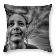 May-belle Chasing The Wind Throw Pillow