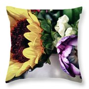 May Flowers I Throw Pillow