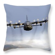 Mc-130p Combat Shadow Over Scotland Throw Pillow