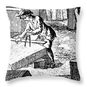 Measuring & Marking Stone Throw Pillow