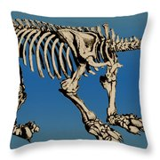 Megatherium Extinct Ground Sloth Throw Pillow by Science Source