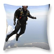 Member Of The U.s. Army Golden Knights Throw Pillow