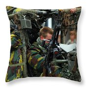 Members Of A Recce Or Scout Team Throw Pillow