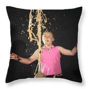 Mentos And Soda Reaction Throw Pillow