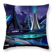 Meraparis City Throw Pillow