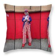 Mermaid Parade Collage 2011 Coney Island Throw Pillow