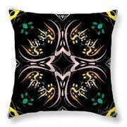 Metallic Flourishes Warp 2 Throw Pillow