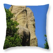 Mica Rock In The Black Hills Throw Pillow