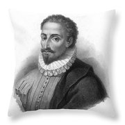Miguel De Cervantes, Spanish Author Throw Pillow