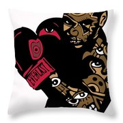 Mike Tyson Full Color Throw Pillow