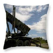 Mim-104 Patriot Missile Launcher Throw Pillow
