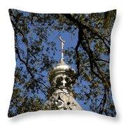 Minaret Through Oak Throw Pillow