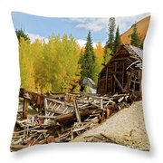Mining Ruins Throw Pillow