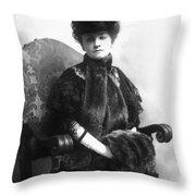 Minnie Maddern Fiske Throw Pillow