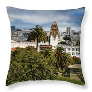 Mission Dolores Park Throw Pillow