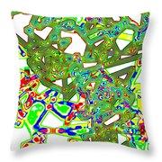 Mix And Mingle Throw Pillow